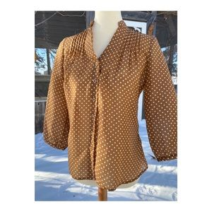 Alfred Sung Pure Polkadot Blouse Top 40s Style